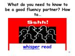 what do you need to know to be a good fluency partner how to