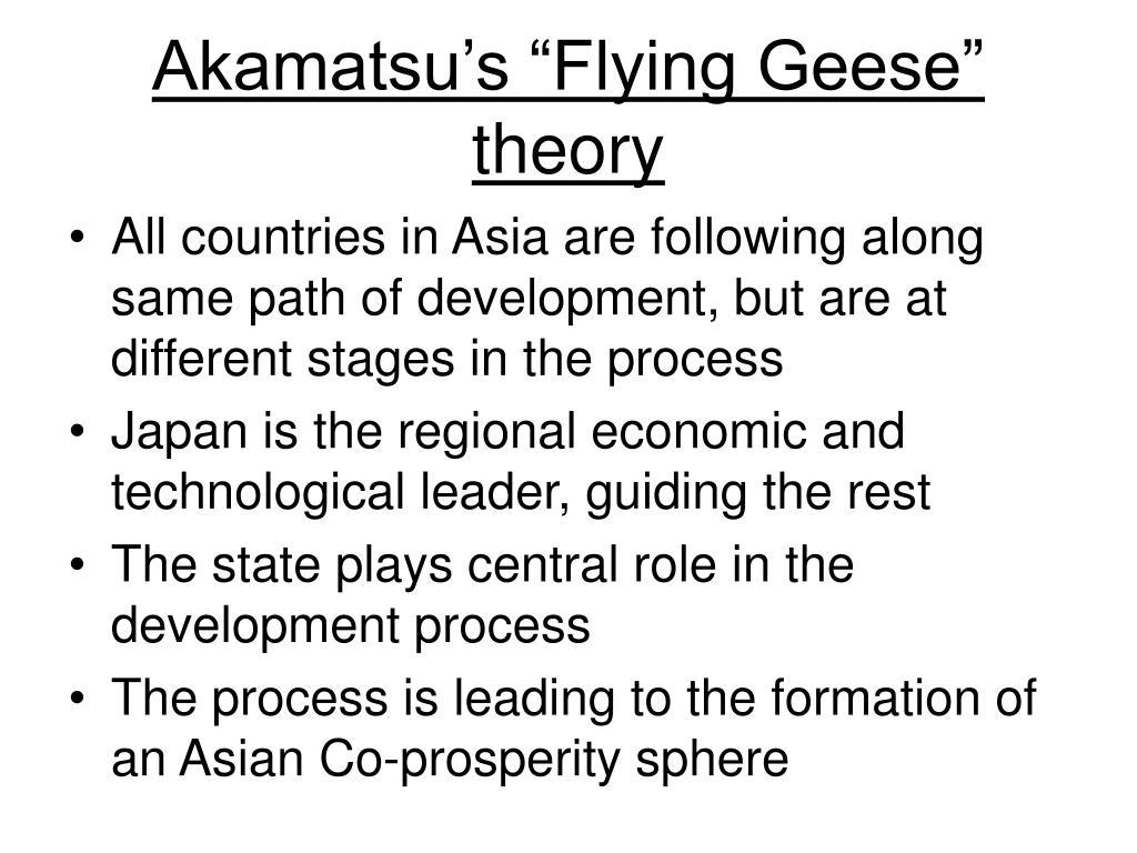 "Akamatsu's ""Flying Geese"" theory"