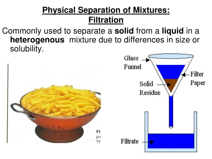 Physical Separation of Mixtures: