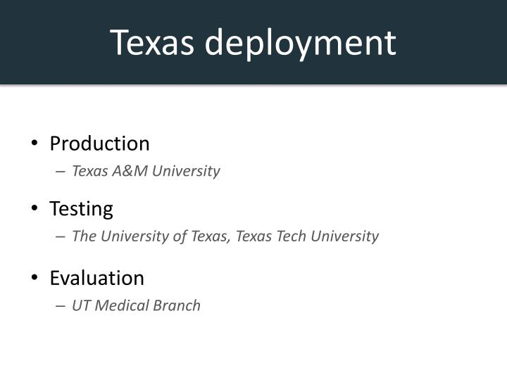 Texas deployment