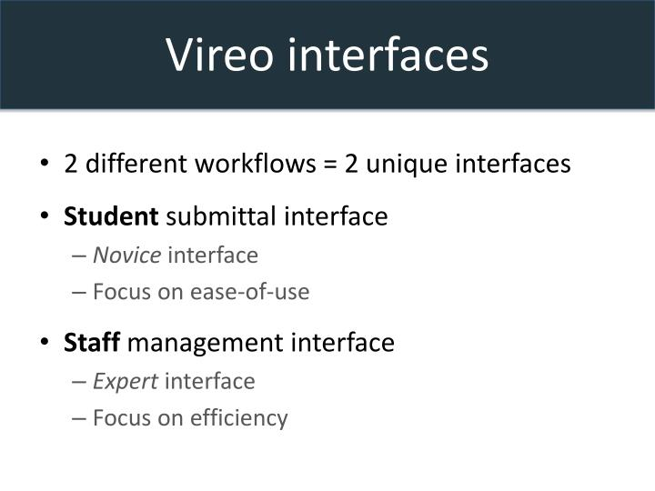 Vireo interfaces