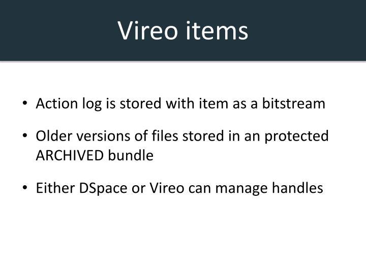 Vireo items