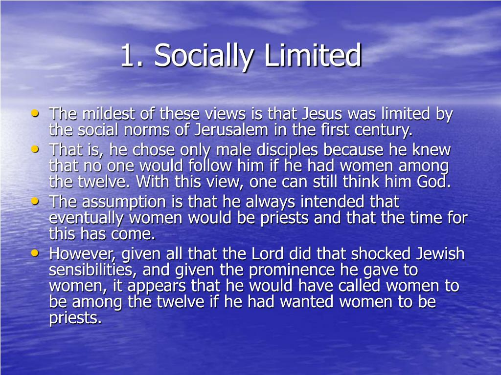 1. Socially Limited