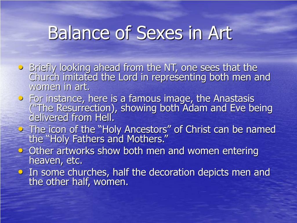 Balance of Sexes in Art