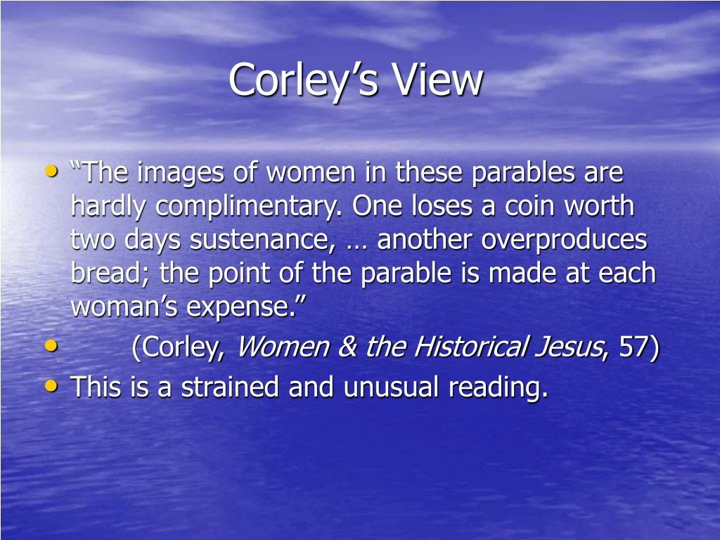 Corley's View