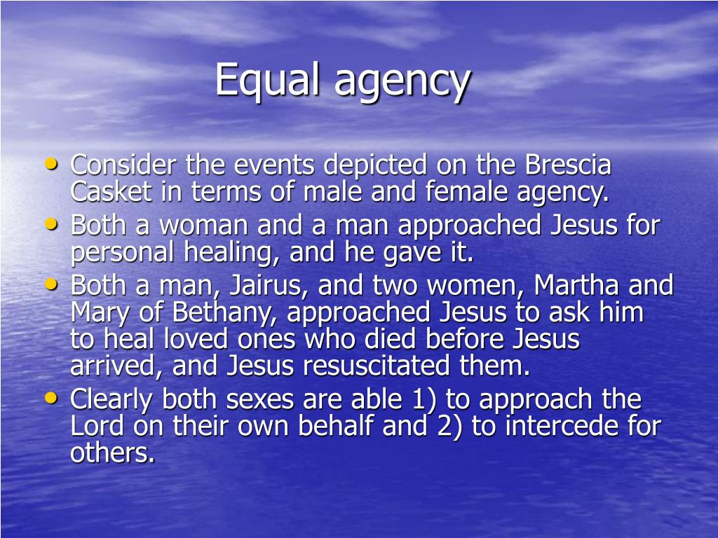 Equal agency