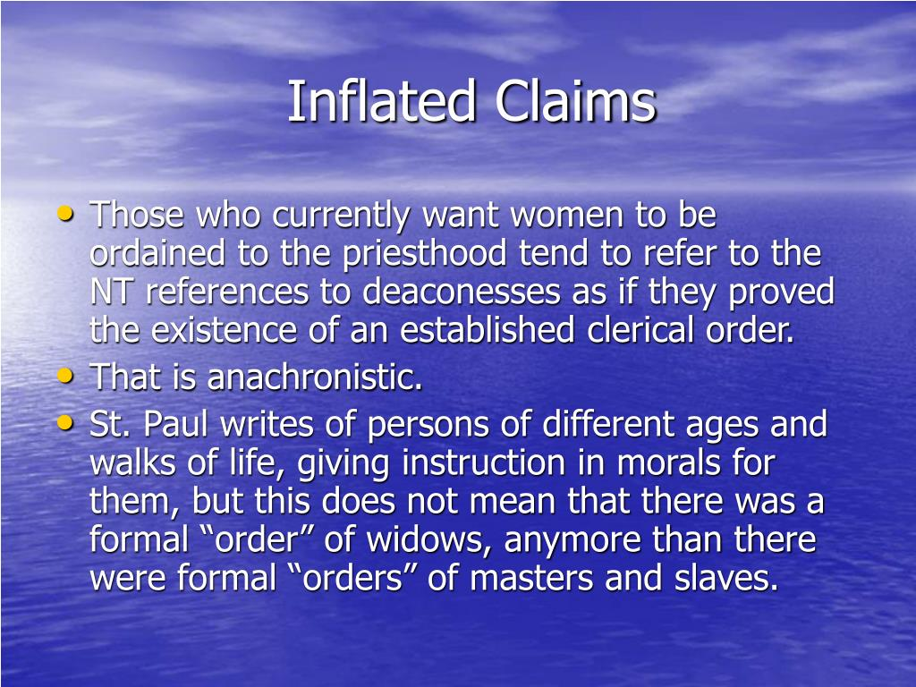 Inflated Claims