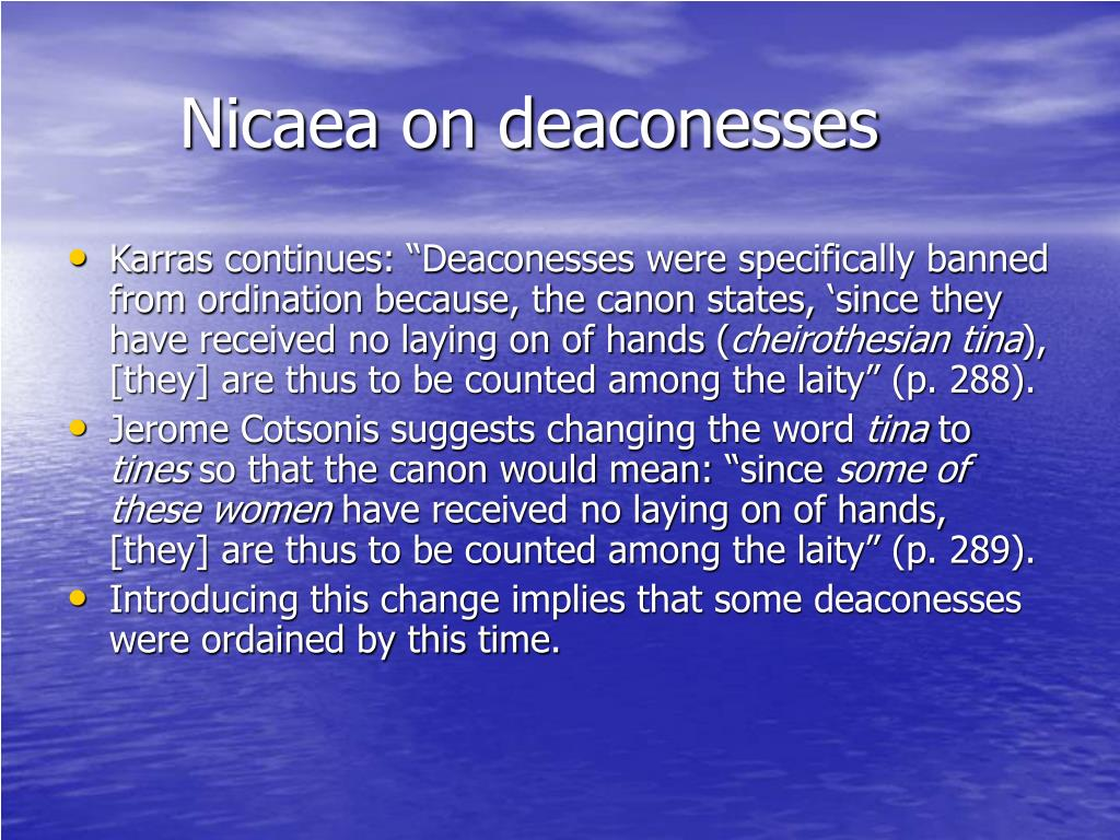 Nicaea on deaconesses