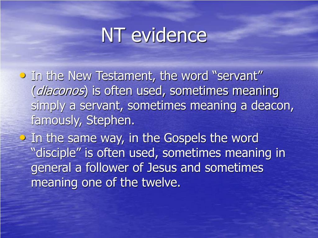NT evidence