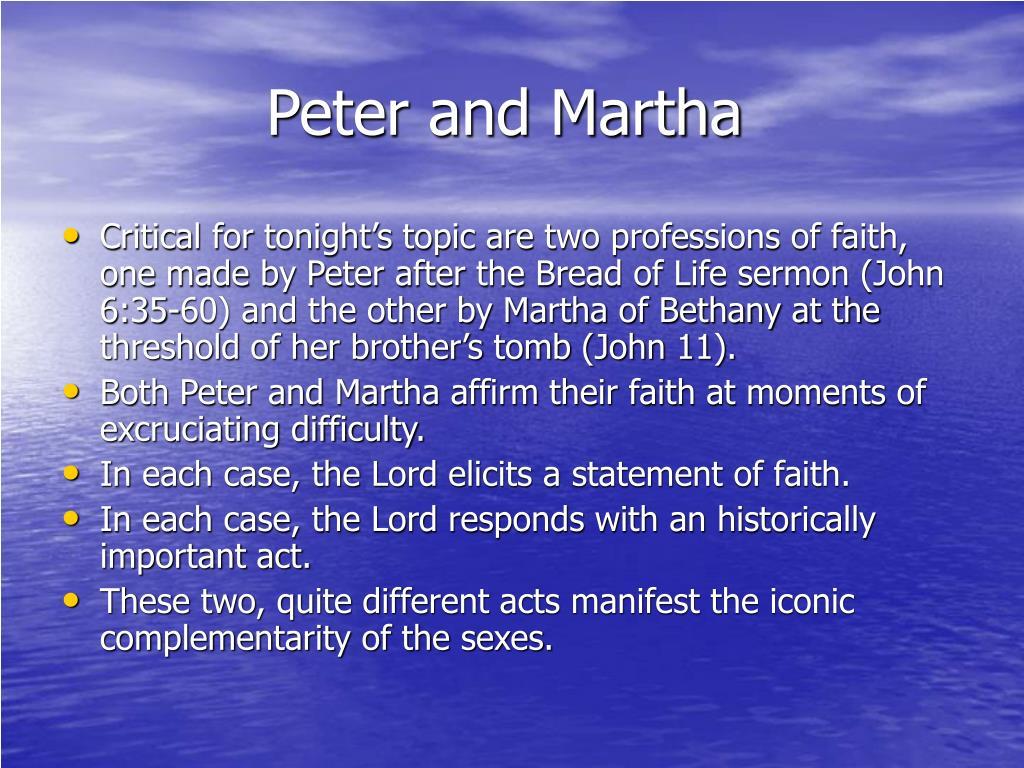 Peter and Martha