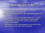 spiritual equality in art
