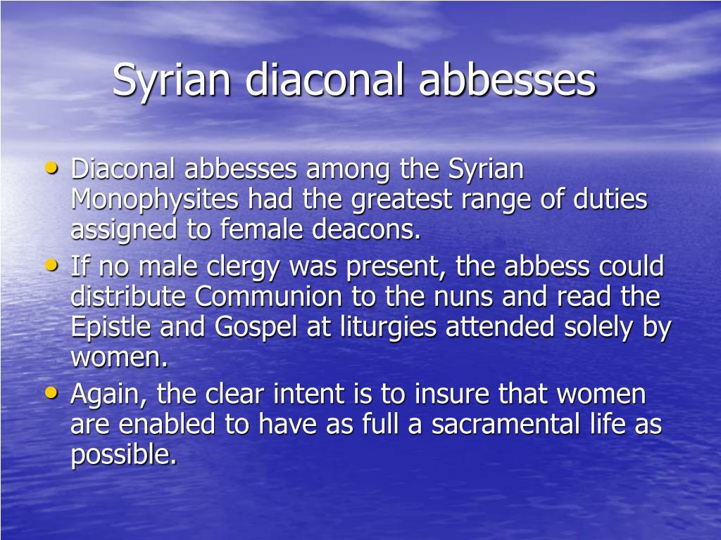 Syrian diaconal abbesses