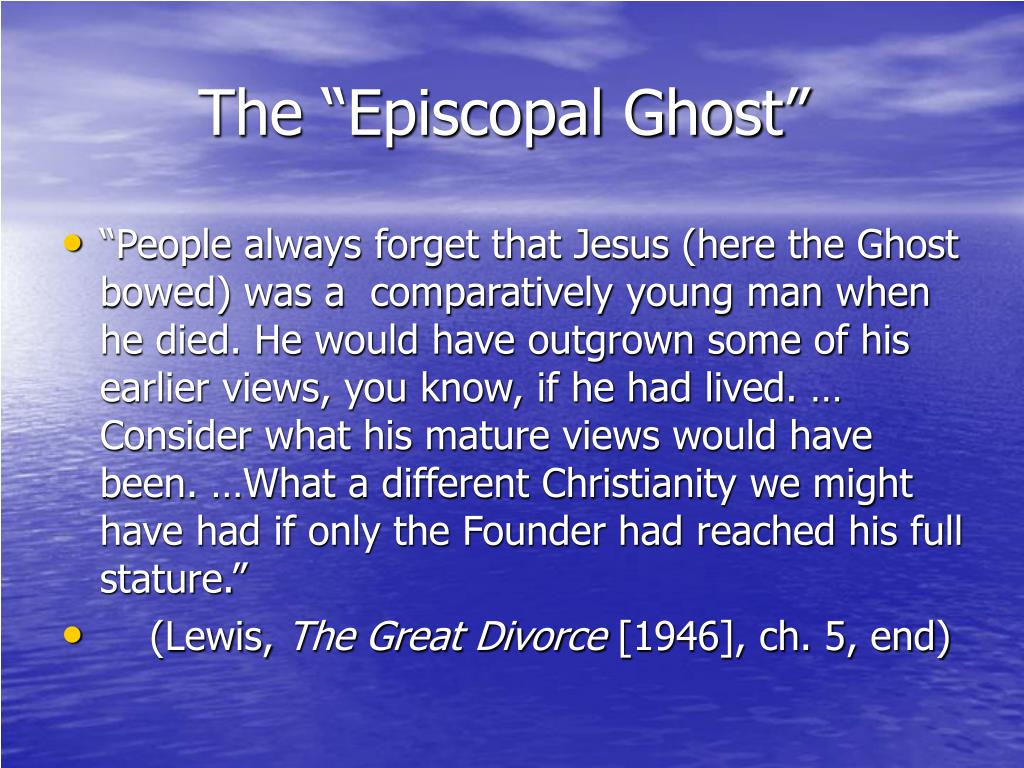 """The """"Episcopal Ghost"""""""