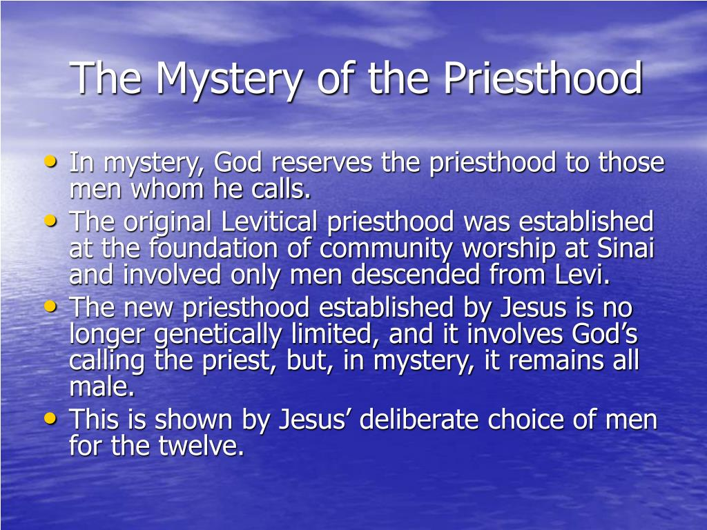 The Mystery of the Priesthood