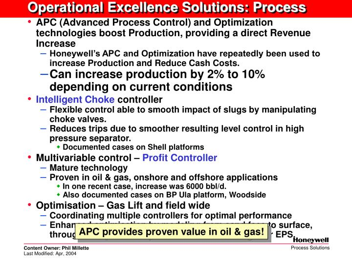 Operational Excellence Solutions: Process
