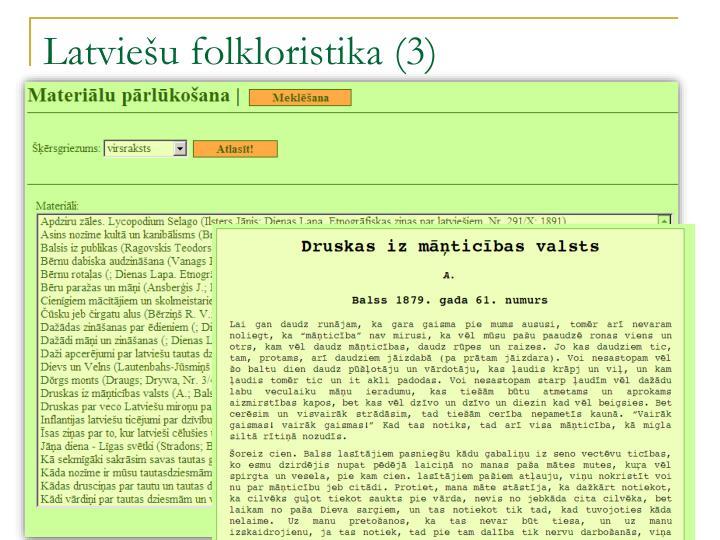 Latviešu folkloristika (3)