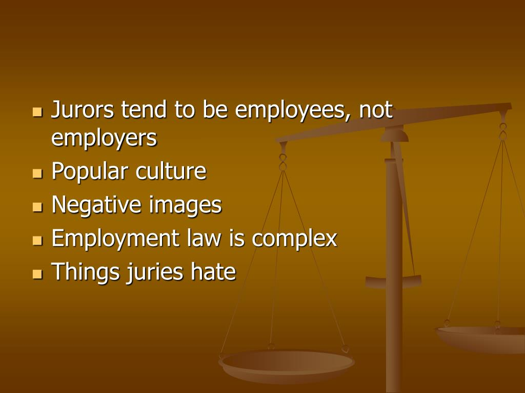 Jurors tend to be employees, not employers