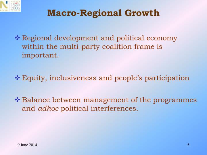 Macro-Regional Growth