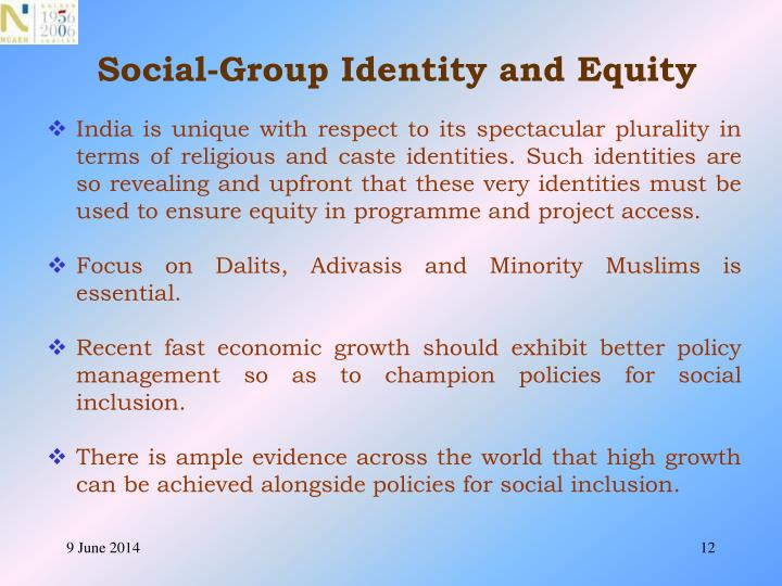 Social-Group Identity and Equity