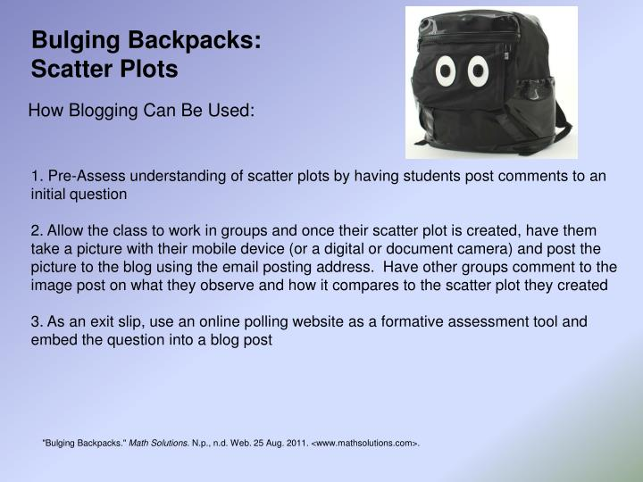 Bulging Backpacks: