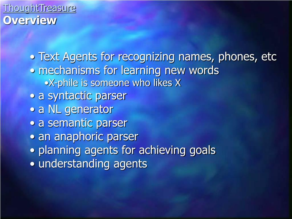 Text Agents for recognizing names, phones, etc
