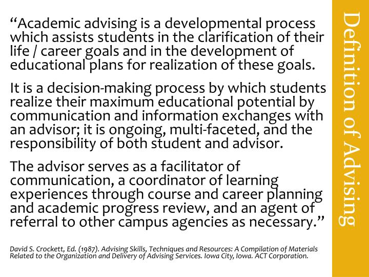 Definition of Advising