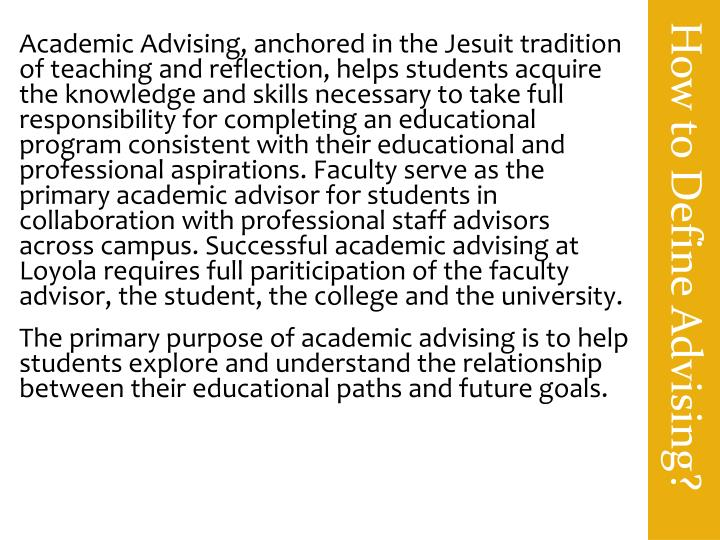 How to Define Advising?