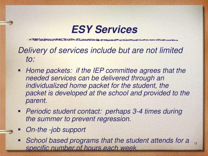 ESY Services