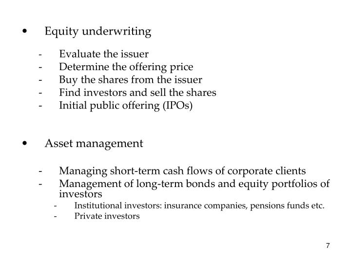 Equity underwriting