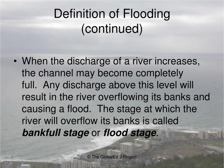 Definition of Flooding