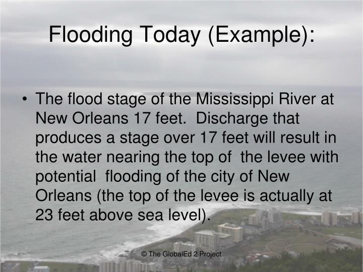 Flooding Today (Example):