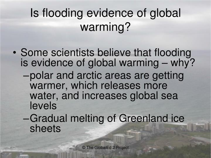 Is flooding evidence of global warming?