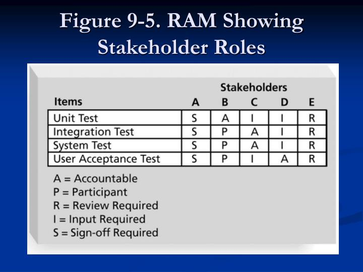 Figure 9-5. RAM Showing Stakeholder Roles