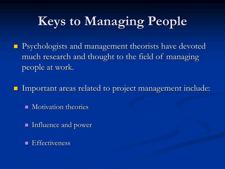Keys to Managing People