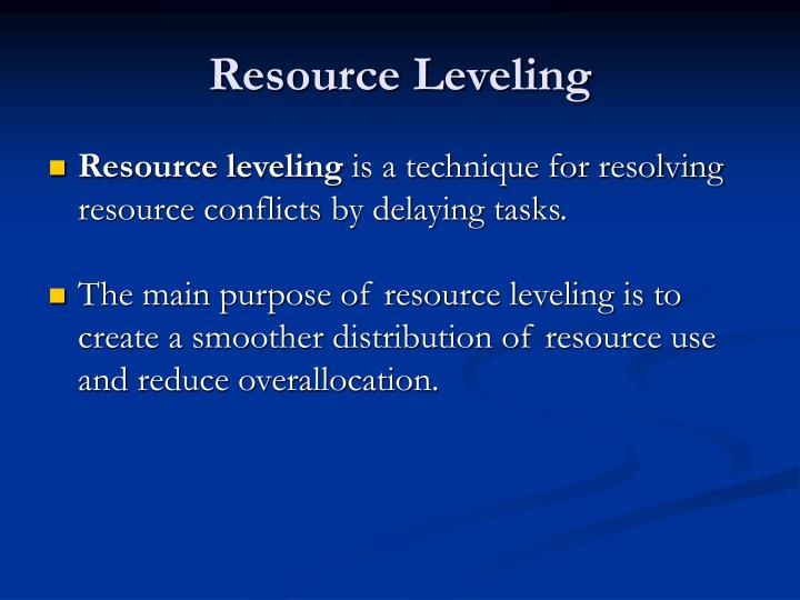 Resource Leveling