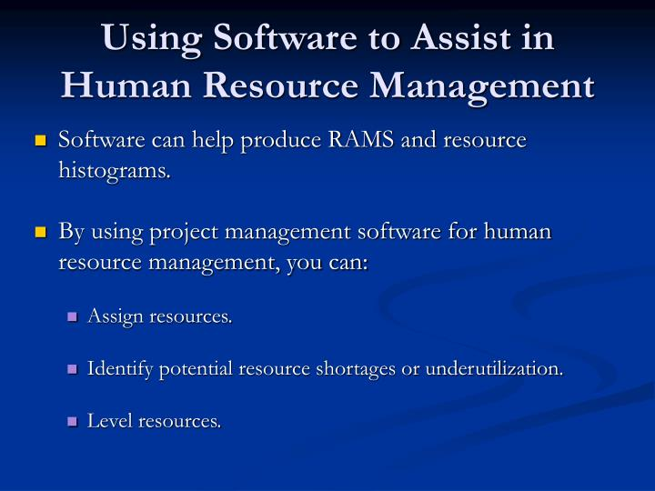 Using Software to Assist in Human Resource Management