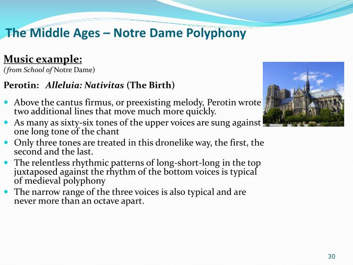 The Middle Ages – Notre Dame Polyphony