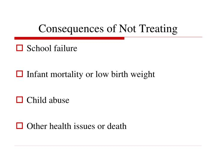 Consequences of Not Treating