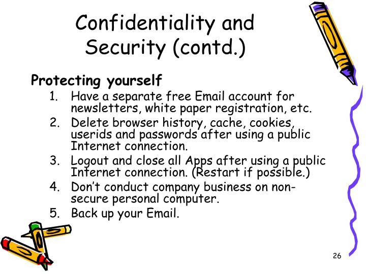 Confidentiality and Security (contd.)