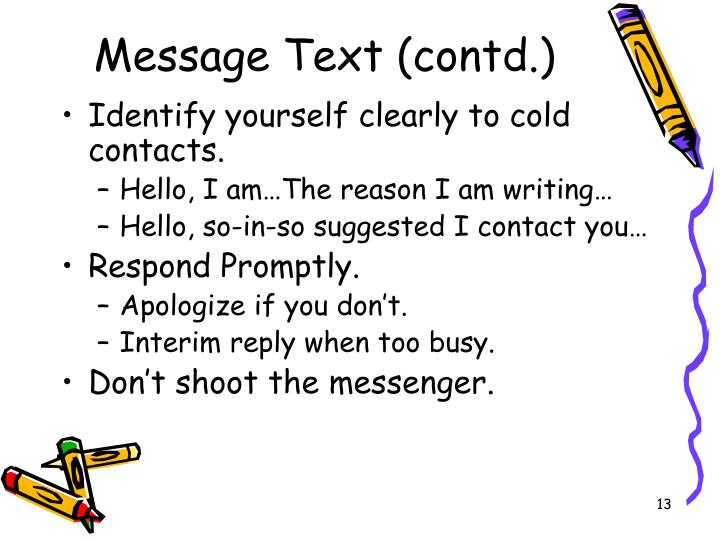 Message Text (contd.)