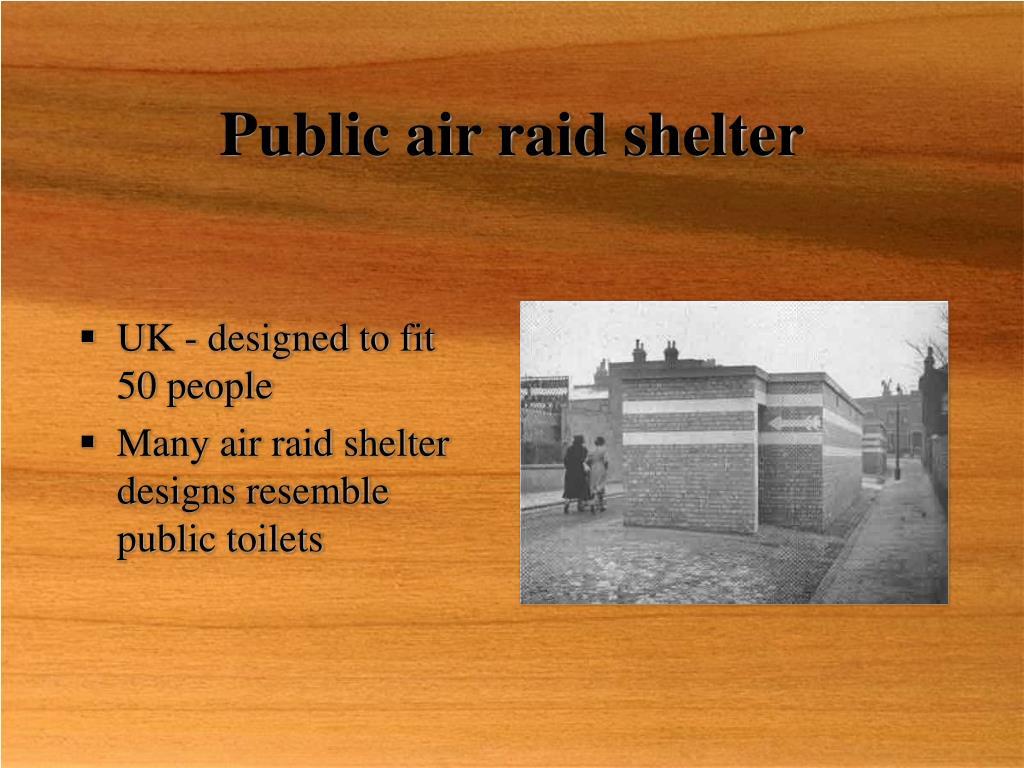 Public air raid shelter