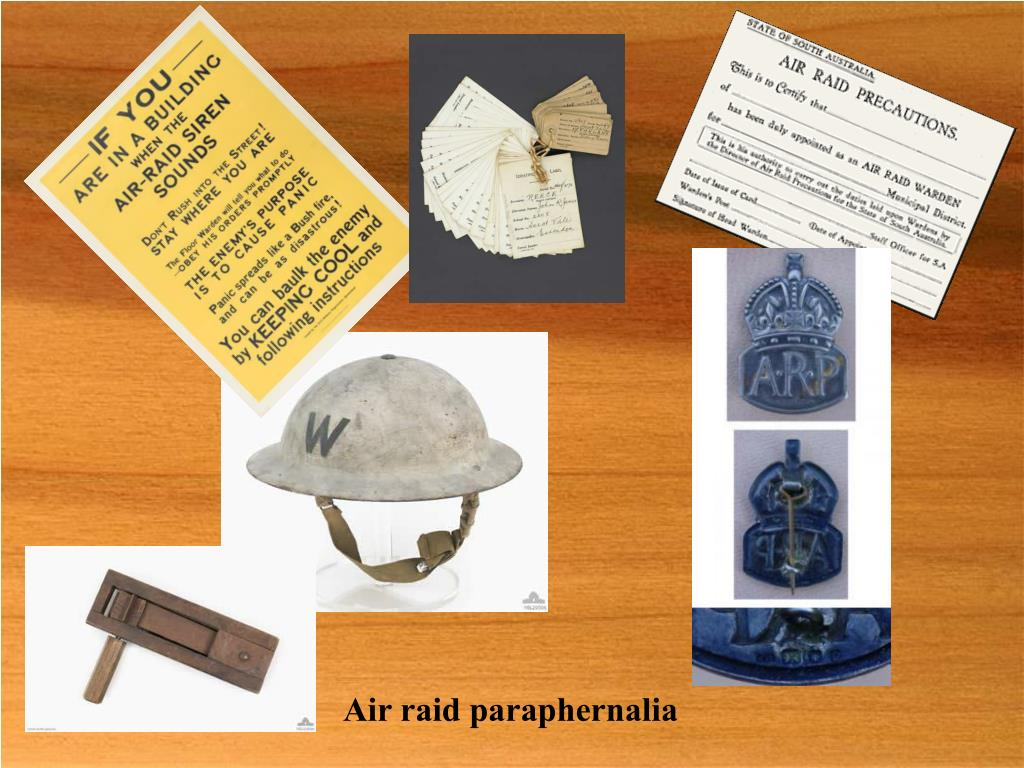 Air raid paraphernalia