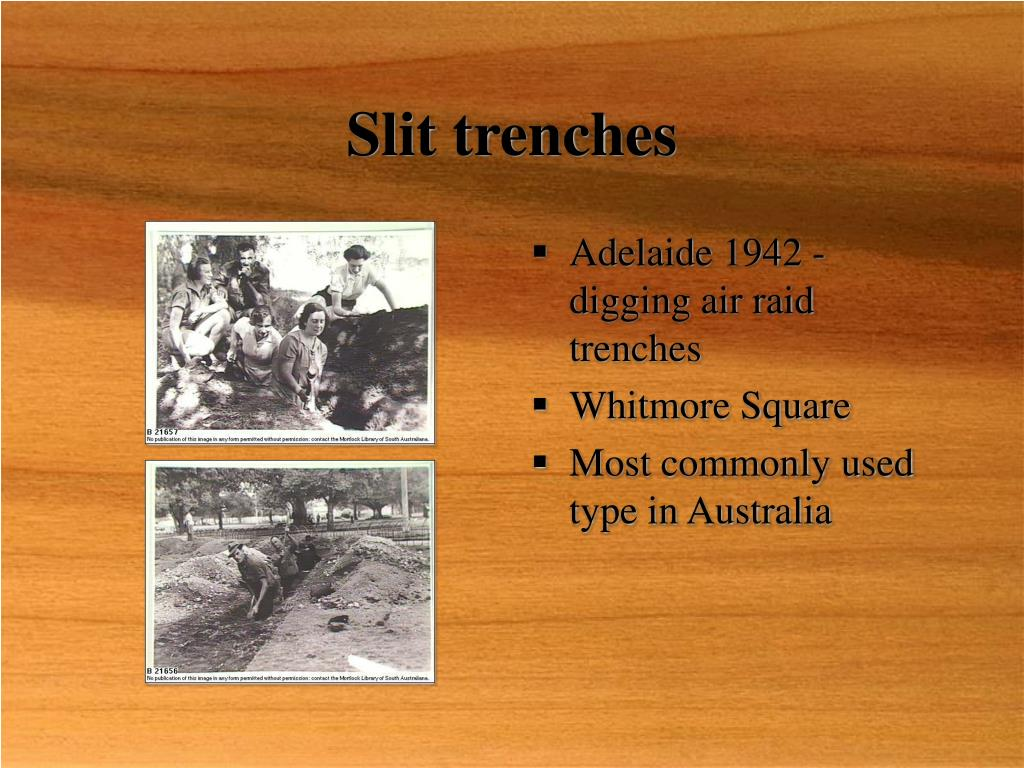 Slit trenches