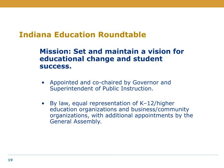 Indiana Education Roundtable