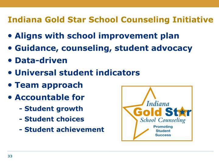 Indiana Gold Star School Counseling Initiative