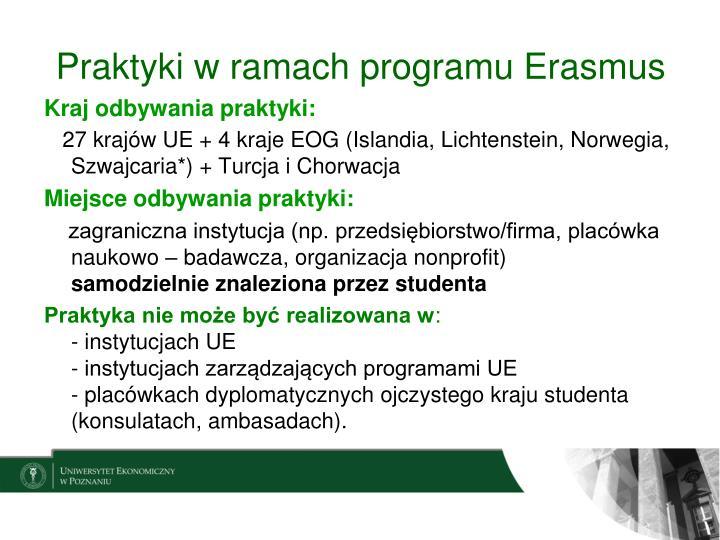 Praktyki w ramach programu Erasmus