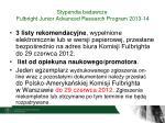 stypendia badawcze fulbright junior advanced research program 2013 141