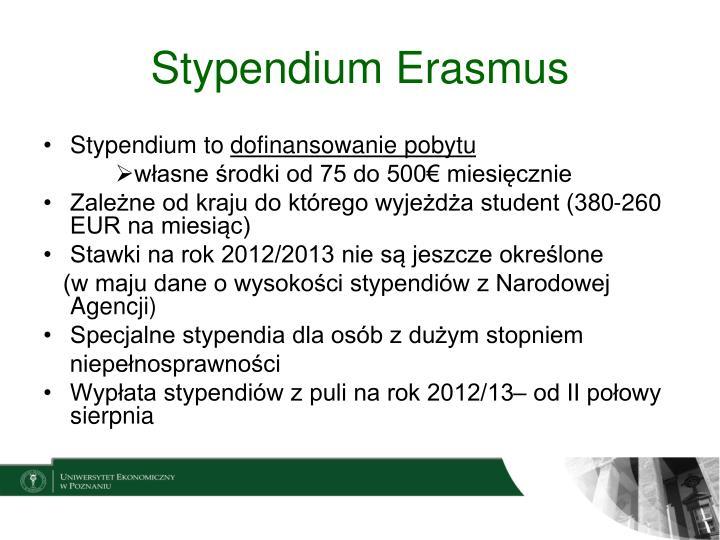 Stypendium Erasmus