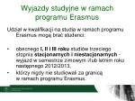 wyjazdy studyjne w ramach programu erasmus2