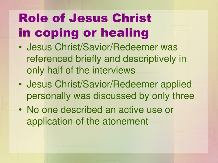 Role of Jesus Christ